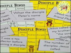 12 Disciples Bingo Game