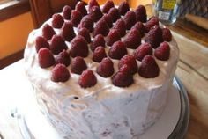 Raspberry Cream Cheese Cake—as delicious as it is beautiful!