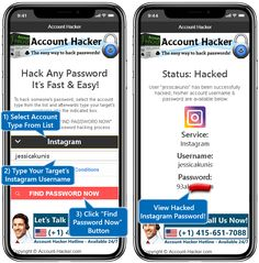 Hack Social Network, Email & IM account passwords with Account Hacker our free, easy to use password hacking software! For Windows, Android & iOS. Find Password, Hack Password, Hack Facebook, Free Facebook, Instagram Tips, Instagram Accounts, Instagram Password Hack, Easy Passwords, Android Phone Hacks