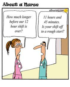 Cartoon: What do you think of 12 hour shifts? - About A Nurse - Nursing Cartoon Series