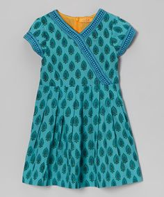 Another great find on #zulily! Ode Aqua Julia Surplice Dress - Toddler & Girls by Ode #zulilyfinds