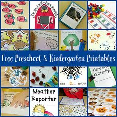 Free Preschool Printables - ideas and activities for literacy, block building, math and more