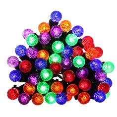 Amazon.com : Qedertek Battery Powered Diamond Christmas String Lights, 13.1ft 50 LED Multi Color Fairy Decorative Lights for Indoor&Outdoor, Home, Garden, Patio, Lawn and Party Decorations : Patio, Lawn & Garden