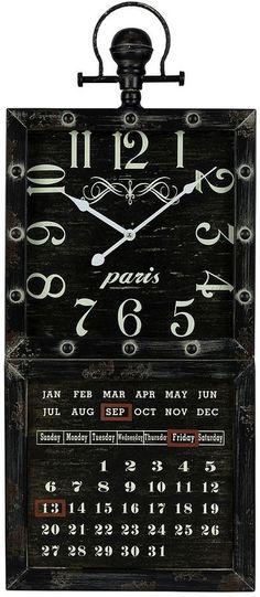 Gordon wall clock calendar