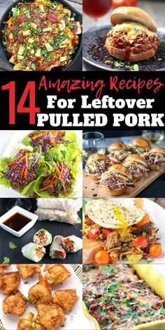 Amazing and creative recipes using Leftover Pulled Pork. From appetizers to dinner, we've got lots of ideas for your Pulled Pork Leftovers. Leftover Pork Recipes, Shredded Pork Recipes, Pulled Pork Recipes, Leftovers Recipes, Recipe With Pulled Pork Leftovers, Recipe Using Shredded Pork, Recipe Using Leftover Pork Roast, Recipes With Pork, Turkey Recipes