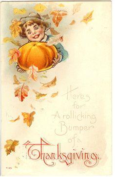 Vintage Thanksgiving Postcard   par bulldoggrrl