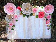 Resultado de imagen para decoracion cumpleaños con beigas y flores de papel