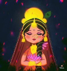 Easy Love Drawings, Art Drawings, India Painting, Cute Cartoon Characters, Radha Krishna Wallpaper, Krishna Images, Hindu Art, Gods And Goddesses, Disney Art