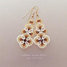 Tatted earrings «Hanna»