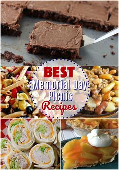 26 of the best recipes to make for a Memorial Day Picnic! Pasta Salad, Baked Beans, Texas Sheet Cake, Fresh Peach Pie, Turkey Pinwheels, Shells and Cheese, Potato Salad, Blackberry Cobbler, Apple Salad, 7-Layer Dip and more! #MemorialDay #recipes #picnic #easy #ideas #nomayo #desserts #summer #fresh #bbq #cookout