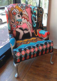 painted chair @ lulabellaart.com