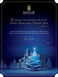 Merry Christmas from #Baylor University!