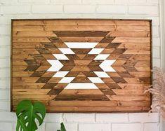 Artículos similares a TAOS Wood Wall Art - Wooden Wall Art - Geometric Wood Art - Wooden Wall Art Hanging - Modern Wood Art - Boho Wood Art - Wood Wall Decor en Etsy