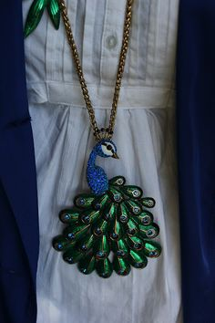 Peacock Necklace Betsey Johnson | Will Bake for Shoes