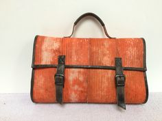"Handbag, made of the used firehose. 15"" laptop sized!"