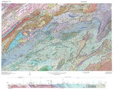 Wildly Colorful Geologic Maps of National Parks (And How to Read Them) | Geologic map of the Great Smoky Mountains National Park region.  | Credit:High-resolution version with legend | From WIRED.com