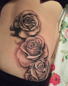 My roses tattoo just after it had been done