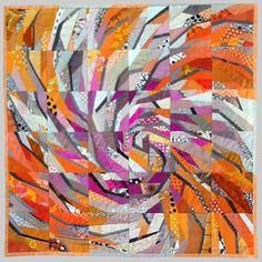 "Ursula Kern patchwork quilt ""Spiral 11"""