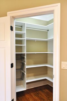 Build a kitchen Pantry in a coat closet + organizing tips. Description from pinterest.com. I searched for this on bing.com/images