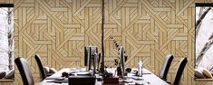 "Finium Konsept - ""Silekt"" (White oak) wood wall panels"
