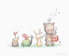 Rachelle Anne Miller Illustration & Design - The most beautiful children's fashion products Funny Books For Kids, Book Funny, Baby Art, Watercolor Animals, Digital Stamps, Cute Illustration, Creative Studio, Nursery Art, Paintings