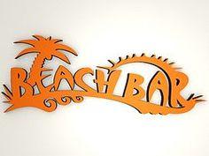 Beach Bar als 3D Wandtattoo