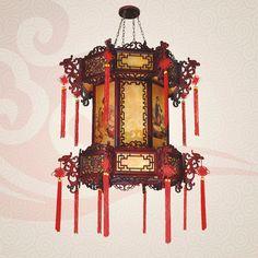 stile cinese luce ciondolo antico classica in legno massello soggiorno luci di lanterne lampade luci ristorante