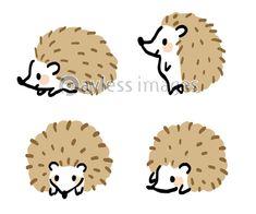 ハリネズミ バリエーション セットの写真・イラスト素材 (xf6845336969) │ペイレスイメージズ Cute Animal Drawings, Cute Drawings, Animal Z, Hedgehog Illustration, Clinic Design, Art Reference, Chibi, Cute Animals, Bunny