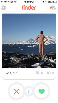 Kyle, and his frankly perfect profile picture.   22 Tinder Profiles That Might Make You Laugh Against All The Odds