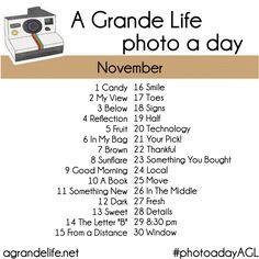 november 30 day photo challenge | Photo a Day Challenge {November} | A Grande Life