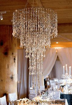 "Chandelier SET - ""Anastasia"" SILVER Diamante Duo Beads (BIG!)"