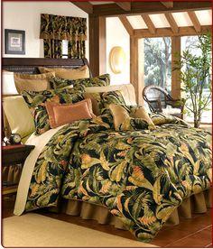 tropical bedding ensembles   Tropical Bedding   Jungle Bed Sets & Hawaiian Themed Comforters
