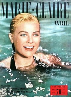 Grace Kelly on the cover of Marie Claire (France) April 1956  To Catch a Thief