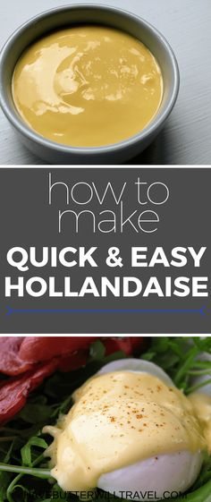 Hollandaise is delicious on eggs for Breakfast. Learning how to make hollandaise will save you money from eating out breakfast every weekend. Eggs Benedict Sauce, Easy Eggs Benedict, Sauce Recipes, Keto Recipes, Cooking Recipes, Healthy Recipes, Eat Breakfast, Breakfast Recipes, Brunch Recipes