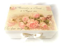 Birds and Flowers Wedding Box - cutie de nunta personalizata ~ Le Cose Animate