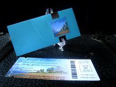 DEPOSIT Beach Boarding Pass Invitation Set by TheStylishScribe
