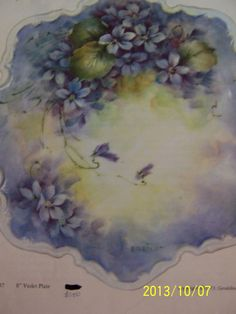 China Painting Study Violets 37 Geraldine Rarick 4 Pages | eBay