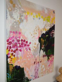 Original abstract acrylic painting titled Kathleen - Kathleen-colorful, happy, full of life and filled with visual texture, including patches of gold th - Visual Texture, Acrylic Art, Love Art, Painting Inspiration, Diy Art, Painting & Drawing, Watercolor Painting, Knife Painting, Art Projects