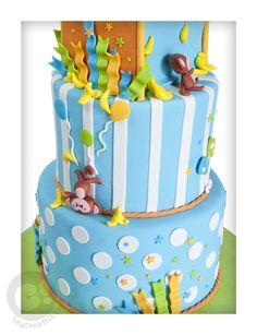 Monkeys Jumping On The Bed cake backside