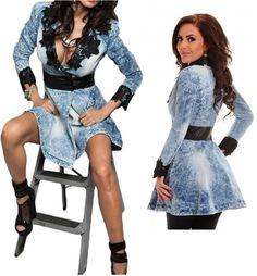 Robe en jean bleu ciel