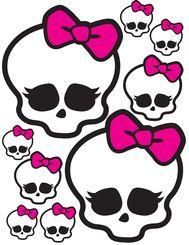 Monster High Skulls (different sizes) for Balloons, Lollipops, Centerpieces, etc.