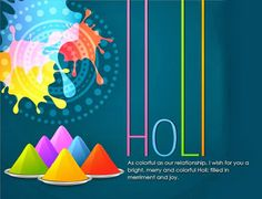 Wish you all a very happy holi