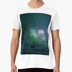 ' Premium T-Shirt by Galaxy 2, Collage Making, Wash Bags, Tshirt Colors, Sell Your Art, Cotton Tote Bags, Chiffon Tops, Looks Great, Tank Man