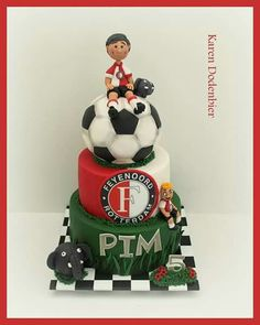Sports Themed Cakes, Sport Cakes, Fondant, Cupcakes, Christmas Ornaments, Holiday Decor, Birthday Cakes, Desserts, Soccer