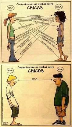Comunicación no verbal entre chicas y chicos.: