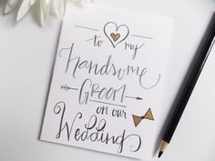 Card for Groom  To My Groom on Our Wedding  by happydoodlesbykatie