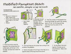 Modified pamphlet stitch