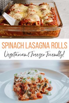 Vegetarian Vegetarian Freezer Meals, Healthy Meals To Cook, Vegetarian Recipes, Easy Spinach Lasagna, Portion Control, I Love Food, Good Food, Yummy Food, What's Cooking