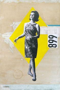 "Kareem Rizk mixed ""Fashion"" media on canvas 20 x 30"