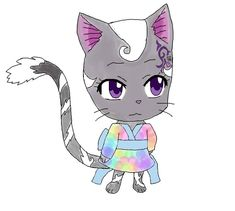 Fairy Tail exceed Ery (OC Shi's exceed) by on DeviantArt Fairy Tail Cat, Fairy Tail Anime, Exceed Fairy Tail, Wattpad, Story Characters, Fictional Characters, Mystical Animals, Fairy Tail Guild, Anime Oc